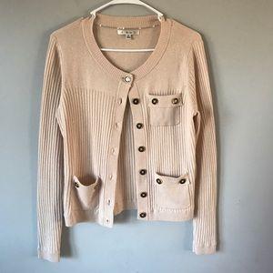 Cabi #494 Cameo Cashmere Blend cardigan sweater